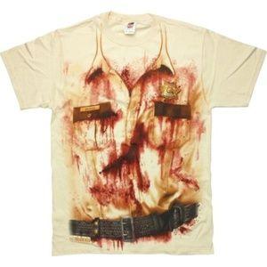 Walking Dead Rick Bloody Uniform T Shirt L nwt